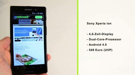 Das Sony Xperia ion ähnelt technisch stark dem Xperia S. Glänzt aber gegenüber dem hauseigenen Konkurrenten mit einem erweiterbaren Speicher und einem größerem Display.