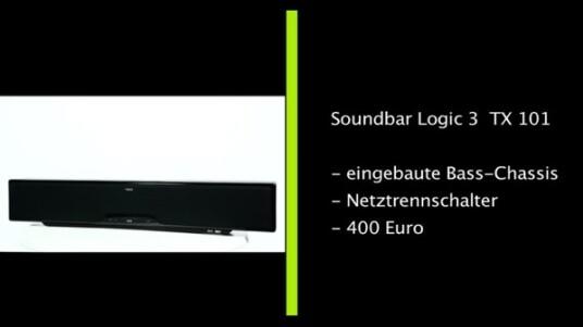 Die Soundbar Logic3 kommt ohne Subwoofer ins Haus. Diesen braucht sie prinzipiell auch nicht, da die Lautsprecherleiste mit einer ordentlichen Tiefen-Wiedergabe punkten kann. Abzüge gibt es aber für die schwierige Montage, die fummelige Fernbedienung und dem abnormal hohen Stromverbrauch.