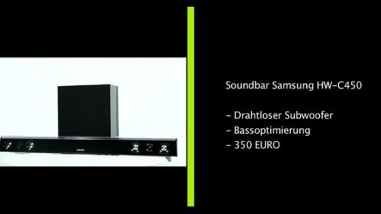 Mit dem Modell HW-C450 hat Hersteller Samsung eine sehr kompakte und vor allem günstige Soundbar im Angebot. Dafür müssen Käufer auf einen eingebauten Blu-ray-Player verzichten.