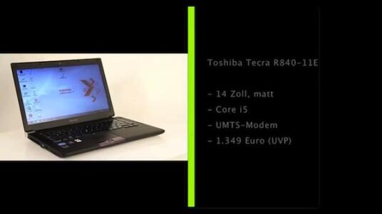 Mit seinem 14 Zoll großen, matten Display und einer leistungsfähigen, aber nicht übertriebenen Hardware sowie einem integrierten UMTS-Modem bietet sich das Toshiba Tecra vor allem zum mobilen Arbeiten an.