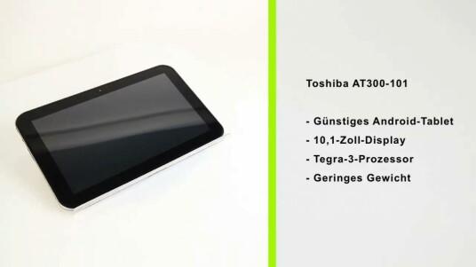 Toshibas AT300-Reihe kann im Test mit einer guten Ausstattung und einem attraktivem Preis-Leistungs-Verhältnis punkten. Negative Kritik gibt es für das riesige Netzteil und das leider spiegelnde Display.