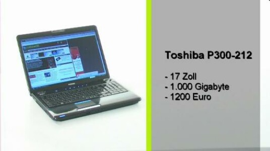 Der Toshiba ist ein kleines Multimedia-Wunder. Mit seinem 17-Zoll Display erwartet man ein Filmvergnügen in Full-HD. Doch weit gefehlt, das P300 hat eine Auflösung von 1440x900 Pixel. Einzig der Klang der integrierten Harman&Kardon Boxen und die Rechenleistung entspricht dem Attribut Mulitmedia.