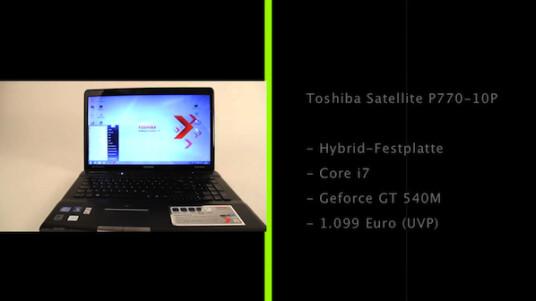 Großer Bildschirm, flotte Hardware und ein guter Preis - nur die Auflösung lässt beim Toshiba Satellite P770-10P zu wünschen übrig.