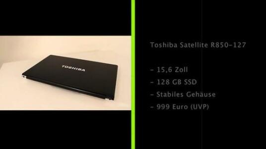 Das stabile Gehäuse, die schnelle SSD-Festplatte und die lange Akkulaufzeit sind die herausragendsten Merkmale des Toshiba Satellite R850-127.