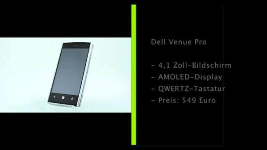 Das Dell Venue Pro ist das erste WP7-Handy von Dell. Im netzwelt-Test wussten vor allem das AMOLED-Display und die gute Verarbeitung zu gefallen. Die ausziehbare QWERTZ-Tastatur ermöglicht zudem schnelles Tippen.
