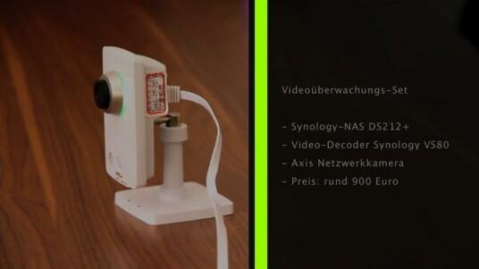 Netzwelt stellte sich ein kleines System zur Videoüberwachung bestehend aus dem Synology-Netzwerkspeicher DiskStation 212+, einer AXIS-Netzwerkkamera und der Überwachungsstation VS80 von Synology zusammen.