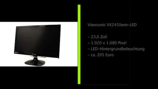 Beim Viewsonic VX2450wm-LED handelt es sich um einen 23,6 Zoll großen Bildschirm mit Full-HD-Auflösung und LED-Hintergrundbeleuchtung.