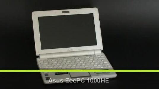Der Asus EeePC 1000HE ist mit 1445 Gramm relativ schwer für ein Netbook. Aber Ansonsten überzeugt das Netbook im Test und kann locker mit dem Rivalen Samsung NC10 mithalten.