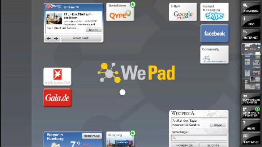 WePad Anwendungsbeispiel 2
