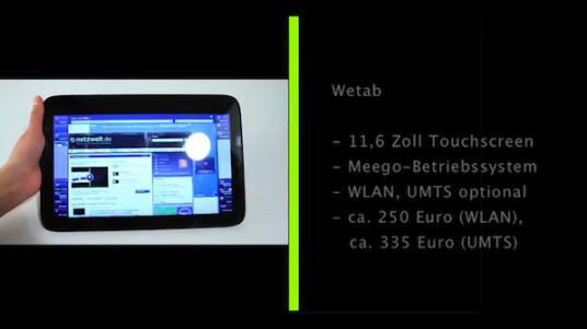 Das Wetab ist deutlich größer und schwerer als die anderen derzeit verfügbaren Tablets und lässt sich mit seinem komplett anders aufgebauten Betriebssystem nur schwer vergleichen. Aber das Tablet ist inzwischen recht günstig und verfügt über eine ausreichende Hardware.