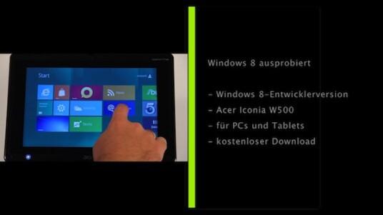 Windows 8 ist da - zumindest die Entwicklerversion. Wir haben sie gleich auf einem Tablet und einem All-In-One-PC mit Touchscreen ausprobiert.