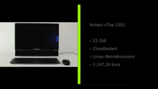 Der Xompu xTop 2301 soll der ideale Rechner für alle sein, denen Programm-Aktualisierungen und die Installation von Software ein Graus sind. Das Linux-System benötigt eine dauerhafte Internetverbindung und verfügt über die nötigsten Anwendungen.
