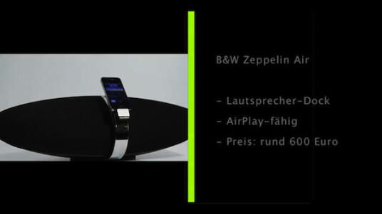 Das komfortable Lautsprecher-Dock Zeppelin Air vom Bowers & Wilkins ist eines der ersten Lautsprecher-Docks, das Apples Musikstreaming-Technologie AirPlay unterstützt. In Sachen Sound und Design kann das Gerät voll überzeugen.