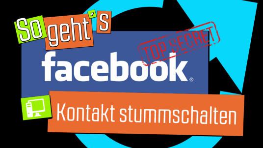facebook: kontakt stummschalten