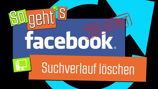 facebook: suchverlauf löschen