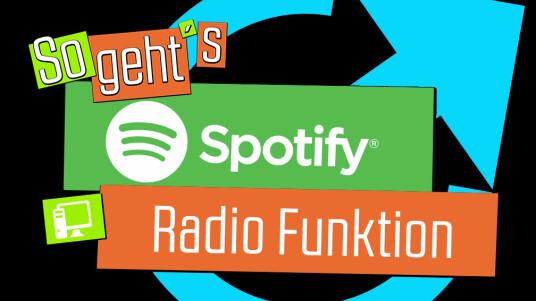 Wer einen bestimmten Song oder einen gewissen Künstler gerne hört, kann sich mit der Radio-Funktion einfach einen Mix mit ähnlichen Songs von Spotify zusammenstellen lassen.