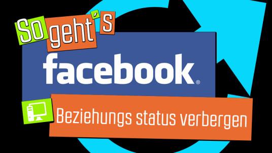 Facebook: Beziehungsstatus verbergen