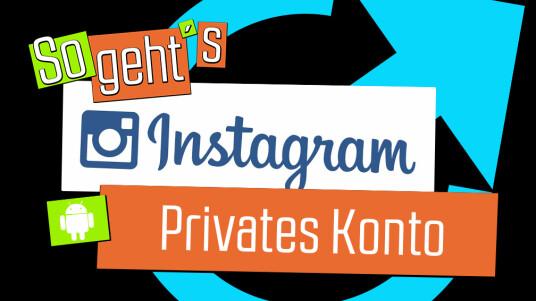 Instagram: Privates Konto