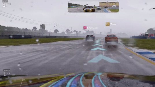 Forza 6 bei einer Regenfahrt.