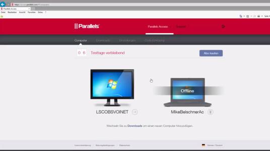 Du musst keine Software installieren, um mit Parallels Access 2.5 auf einen entfernten Computer zugreifen zu können. In diesem Video zeigen wir dir, was die Web-App von Parallels Access kann.