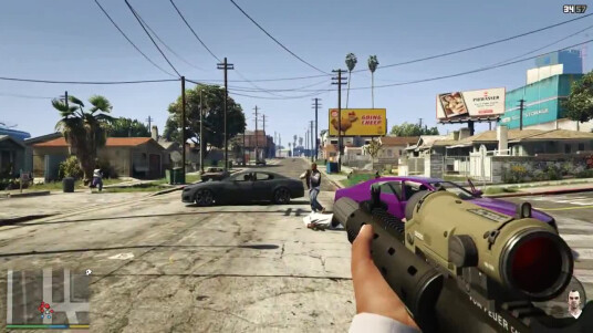 GTA 5 - First-Person-Gameplay-Trailer Thumb