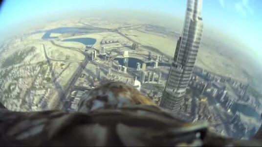 Die Tierschutz-Organisation Freedom Conversation hat in Dubai mit diesem Video Aufsehen erregt. Mit der Aktion soll auf den Schutz bedrohter Raubvögel aufmerksam gemacht werden. Der Rekordflug eines Adlers vom höchsten Gebäude Dubais, dem Buri Khalifa, wurde mit einer ActionCam von Sony begleitet und zeigt beeindruckende Luft-Aufnahmen von Dubai. Aus 830 Metern Höhe segelt der Adler auf den Arm seines Trainers Jacques-Olivier Travers, Weltrekord! Die verwendete Action-Cam ist eine Sony FDR-X1000.