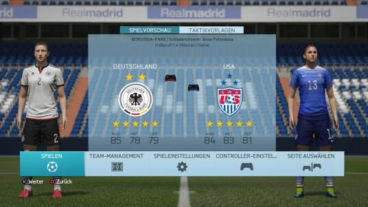 Fifa 16 Demo: Deutschland gegen USA - Frauenmannschaften