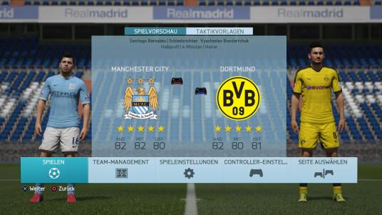 FIFA 16 Demo: Manchester City gegen Borussia Dortmund
