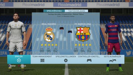 Fifa 16 Demo: Real Madrid gegen Barcelona