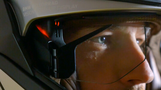 BMW-Helm mit Head-Up-Display im Hands-on