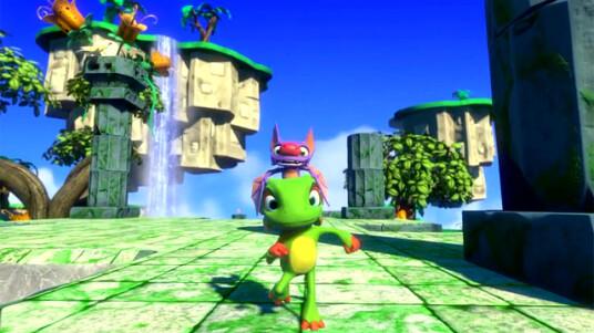 Banjoo-Kazooie war ein Hit für die Nintendo 64-Konsole,einige Entwickler des Adventures haben nun ein neues Projekt auf Kickstarter in Leben gerufen. Yooka-Laylee erinnert nur durch die Namens-Konstellation an den 64-Klassiker von Nintendo, auch das Gameplay zeigt deutliche Parallelen. Im Video erklären die Entwickler ihre Ziele und geben erste Informationen zum Spiel preis.Das ursprüngliche Crowdfunding-Ziel von mindestens 175.000 Pfund ist mit circa 1.300.000 (Stand 04. Mai) bereits um längen überboten. Durh die öhe der Spenden-Einnahmen wird es mehr Modi und Features geben. Yooka-Laylee soll für PC, PS4, Xbox One und Wii U erscheinen.