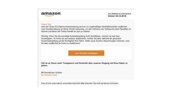 Amazon Verbraucherzentrale Warnt Kunden Vor Phishing Mails Netzwelt
