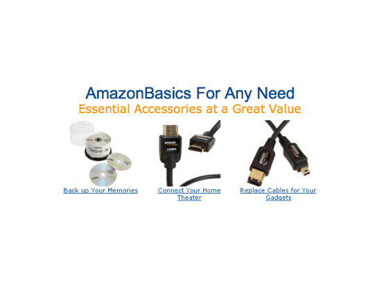 """Bislang bietet Amazon unter der Marke """"Amazon Basics"""" ausgewählte Produkte nur in den USA an."""
