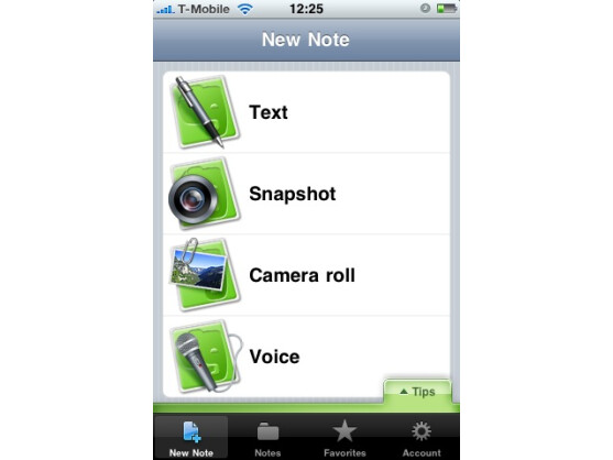 Auf dem iPhone lassen sich auch Sprachaufzeichnungen und mit der Kamera erstellte Fotos verwalten.