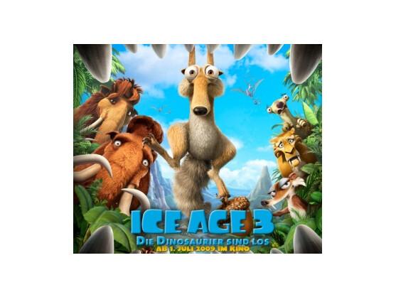 """Ice Age 3: Die Eiszeit lässt sich ab 1. Juli auch dreidimensional erleben. Der letzte 3D-Film """"Monsters vs. Aliens"""" war ein voller Erfolg."""