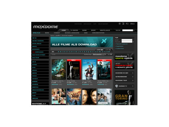 Neues Download-Angebot in der Online-Videothek Maxdome