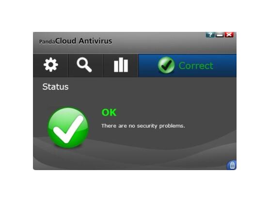 Die übersichtliche Benutzeroberfläche von Panda Cloud Antivirus