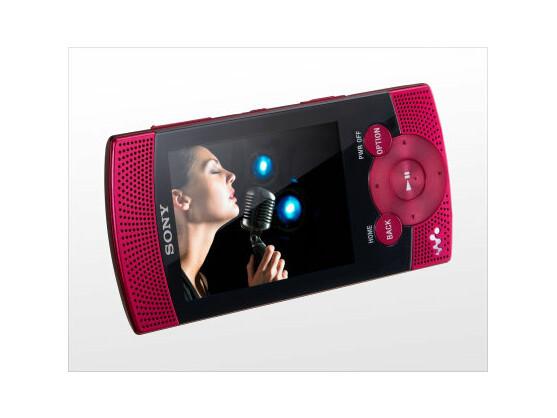 Sony NWZ-S540: Eingebaute Stereo-Lautsprecher sorgen für Unterhaltung.