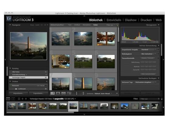 Adobe Photoshop Lightroom 3.3 vereint Bildverwaltung und Entwicklungsprogramm.