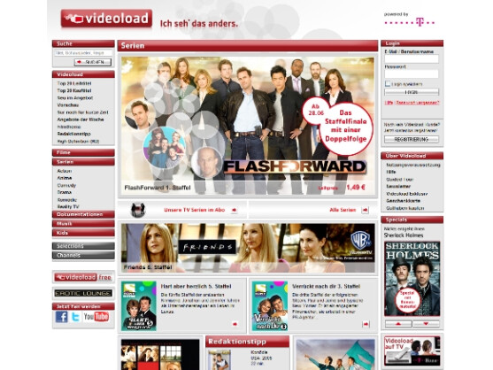 Aktuelle Serien und Klassiker als Video on Demand