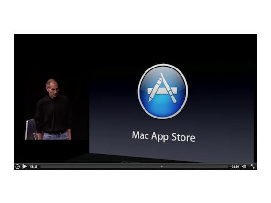 Auf solche Auftritte müssen Apple-Fans erst einmal verzichten: Steve Jobs präsentiert den neuen App Store für Macs.
