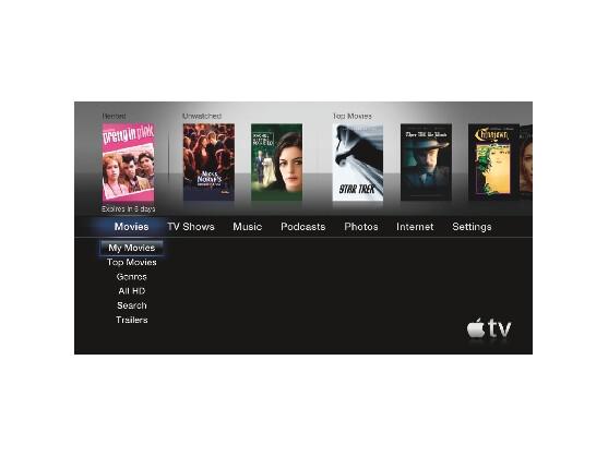 Mit Apple TV lassen sich Filme direkt aus dem Internet laden. Bild: Apple
