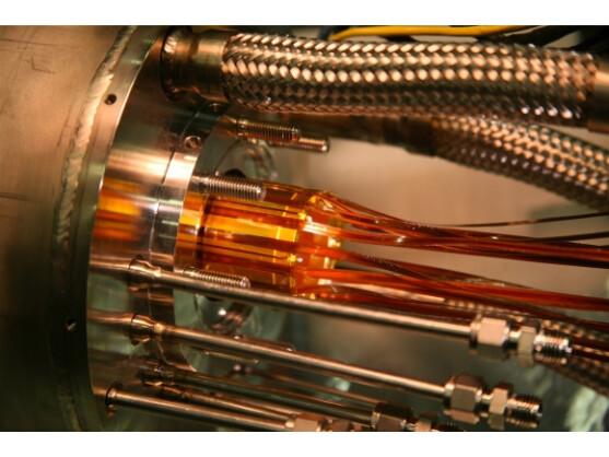 CERN: Die goldenen Elektroden wurden für die magnetische Falle verwendet, in der Anti-Wasserstoff eingefangen wurde.