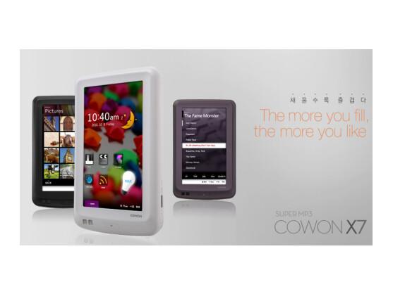 cowon x7 mp3 player mit touchscreen und 160 gb speicher. Black Bedroom Furniture Sets. Home Design Ideas