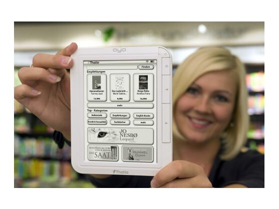 Immer mehr E-Reader kommen auf dem Markt. Auch der Filialist Thalia mischt im Markt mit. Bild: Thalia