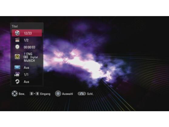 Die Menüstruktur erinnert an die Player von LG. Das Menü reagiert sehr schnell auf Befehle und stellt auch Detailinformationen übersichtlich dar.
