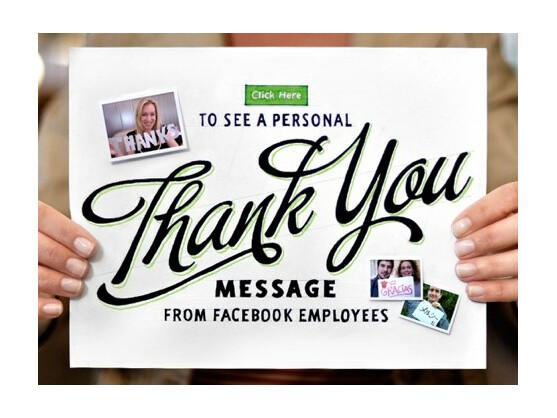 Die Mitarbeiter des sozialen Netzwerks Facebook danken 500 Millionen treuen Mitgliedern.