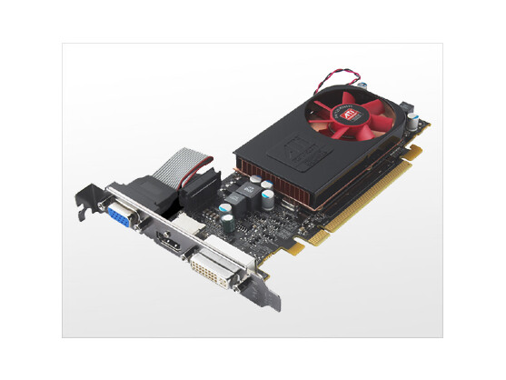 AMDs Radeon 5570: Die Grafikkarte kann bis zu drei Monitore ansteuern