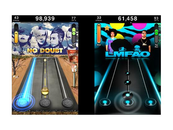 Tap Tap Revenge 3: Zu verschiedenen Liedern müssen Spieler ihr Taktbefühl beweisen.