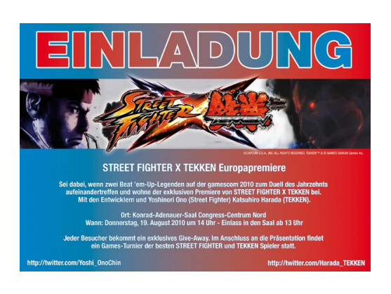 Tekken Entwickler Harada verschickt bereits via Twitter Einladungen zum Kampf.